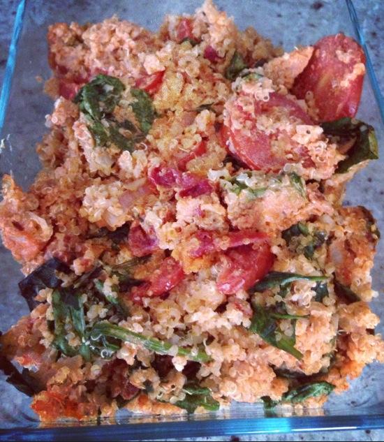 Quinoa caprese bake