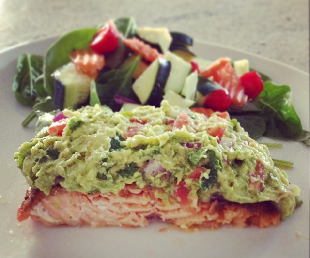Salmon and guac